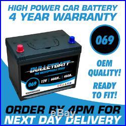 069 BulletBatt Heavy Duty Calcium Car Van Battery Next Day Delivery 4 Yr Wty