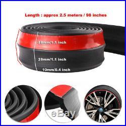 100/8ft Car Front Bumper Lip Splitter Valance Chin Skirt Body Protector Trim