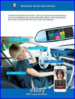 1080P HD Android 5.0 GPS WIFI Car Video DVR Rearview Mirror Dash cam car drivers