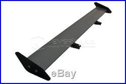 125cm Lightweight Aluminum Car Trunk GT Rear Wing Racing Spoiler Black Universal