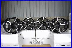 18 inch MOD JAERO 5x120 BLACK 5 stud BMW Acura alloy wheels