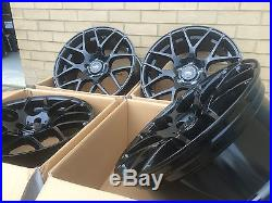 19 Alloy Wheels And Tyres Gloss Black To Fit Bmw X3 X4 X5 Vw T5 T6