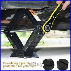 1X Rubber Pad with Slots, Hydraulic Ramp, Jack, Jacking Pad Adapter Trolley Jack