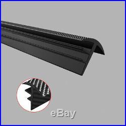 1.6M Carbon Fiber Car Dashboard Windshield Gap Sealing Strip Rubber Accessories