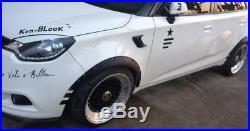 1 Pair Car Polyurethane Body Wheel Eyebrow Fender Flares Decor Heat Resistant