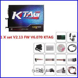 1 Set Latest Hardware V2.13 FW V6.070 KTAG ECU Programming Tool for Car Truck