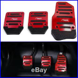 1 Set Universal Red Non Slip Auto Car Pedal Pad Cover Interior Decor Accessories