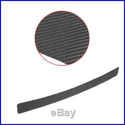 1x Black Carbon Fiber Car Rear Bumper Protector Corner Trim Sticker Accessories