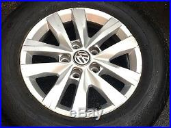 2016 VW T6 T5.1 Transporter Genuine 16 Alloy Wheels Tyres Highline Sportline