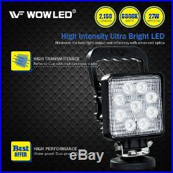 27W LED Work Light Offroad Flood Lamp Square Floodlight Truck Boat Bar 12V Camp