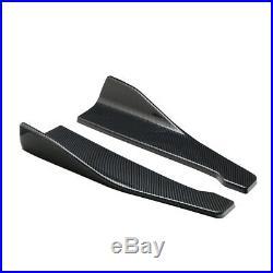 2Pc 48cm Car Bumper Spoiler Rear Lip Angle Splitter Diffuser Anti-crash modified