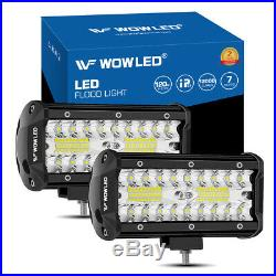 2×7 inch 120W CREE 40 LEDs Driving Work Light Spot light Offroad Truck Car Lamp