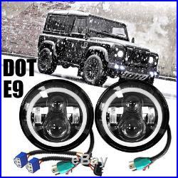 2pcs CREE LED Headlights Hi/Lo Beam E-mark for Land Rover Defender RHD 7 90 110