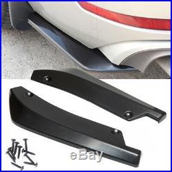 2x Car Rear Lip Bumper Spoiler Canard Diffuser Wrap Angle Splitter Anti-crash CV