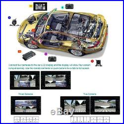 360° Full Parking View Front/Rear/Right/Left Split Image Screen 4HD Cameras DVR