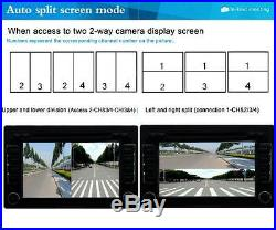 360° Full View Parking Aid 4 Cameras Split-image Screen Video Monitor WithO Cables
