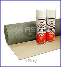 3m x 1.6m ExtraWide Headlining Textured Oatmeal FoamBacked + 2 HiTemp Spray Glue