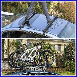 43'' Aluminium Adjustable Anti Theft Lockable Car Van Roof Rack Cross Bars Tour