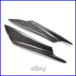 4XReal Carbon Fiber Front Bumper Splitter Fins Body Spoiler Canards Valance Chin
