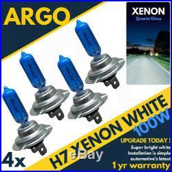 4x H7 Xenon White Blue Bulbs Halogen 499 100w Car Headlight Headlamp Bulbs 12v