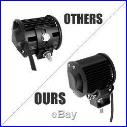 50 52 Inch Curved led light bar + 2x Pods + Wiring UTV Land Rover Defender SUV