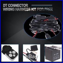 50 52 inch Curved led light bar+2XPODS +Wire Kit ATV UTV Upper Front Ford Jeep