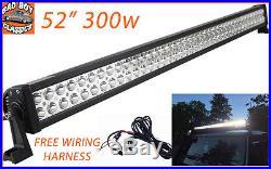 52 300w LED Light Bar High Intensity Spot Lamp For LANDROVER / SUV