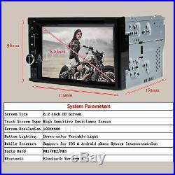 6.2'' Car Double Din In Dash DVD CD Player Radio Stereo Mirror-GPS SAT NAV Came