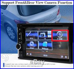 6.2 Double 2 Din In Dash Car CD DVD Player USB Radio Stereo MirrorLink For GPS