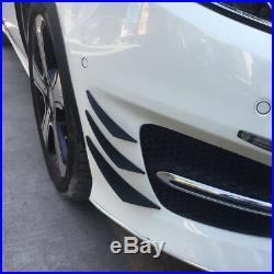 6pcs Universal Carbon Fiber Front Bumper Body Fins Spoiler Canards Splitter Kit