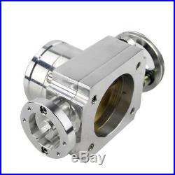 70MM High Flow Intake Aluminum Manifold Billet Throttle Body Silver Universal