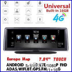 7.84 4G Android 5.1 GPS Nav DVR Recorder BT WIFI FM Recorder ADAS + EU Map