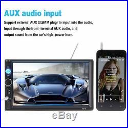 7 Double Din Car NEW Radio Stereo MP5 Bluetooth FM AUX USB HIGH QULITY UK