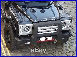 7 LED Headlights BLACK x2 RHD E Approved Defender 90 110 FREE Reverse LED 734B