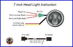 """7/"""" LED Headlights x2 Chrome 50W E Marked UK EU Halo Indicator Free LED 750AC"""