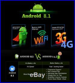 7 Single 1 DIN Car Stereo Sat Nav GPS Navigation Android 8.1 DAB BT Wifi 3G 4G