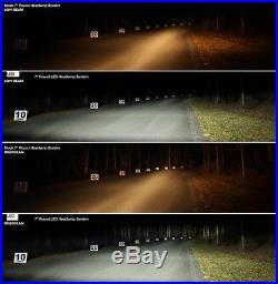 7 inch LED headlights x2 DOT E Approved Land Rover Defender SUV UK/EU 734B