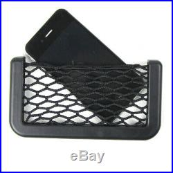Auto Car Interior Body Edge Black Elastic Net Storage Phone Holder Accessories