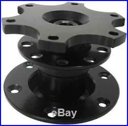 BLACK aftermarket steering wheel SNAP OFF mechanism fits MOMO OMP boss kit