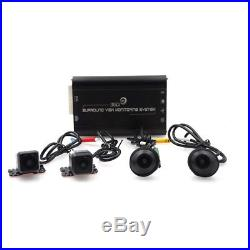 Car 3D 360° Surround View System 4-CH Camera DVR Vedio Recoder Parking Monitor
