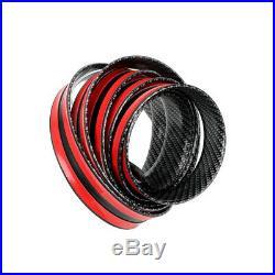 Car Carbon Fiber Rubber Edge Guard Strip Door Sill Protector Accessories 3CMx1M