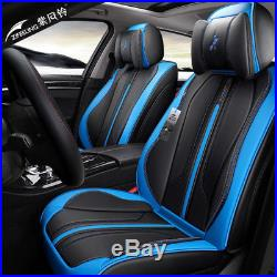 Deluxe 5 seats 6D Seat Cover Full Set Cushion Interior Accessories Black / red