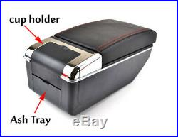 Double-layer telescopic style car central container armrest box Store box holder