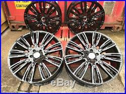 FITS Range Rover Sport 22 Sport Turbine Style Alloys Gloss Black Alloy Wheels