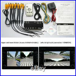 Front/Rear/Right/Left Camera Full Around View Parking Video Monitoring With Cables