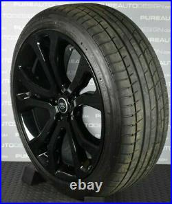 Genuine Range Rover 22 SVO Alloy Wheels Viper Black WIth Tyres & TPMS X FOUR