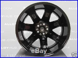 Genuine Range Rover L322 Vogue Supercharged 7spoke 20inch Black Alloy Wheels X4
