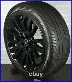 Genuine Range Rover Sport 5007 21 VIPER BLACK Alloy Wheels Pirelli Tyres TPMS 4