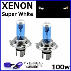 H4 100w SUPERWHITE XENON 472 UPGRADE Headlight Bulbs 12v +501 Sidelights ZENON C