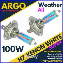 H7 100w Xenon White Super All Weather 499 Halogen Headlight Hid Light Bulbs 12v